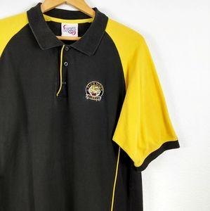 Richmond Tigers AFL Colorblock Football Polo Shirt